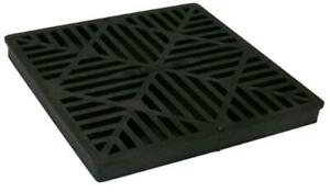 NDS 1211 12X12 BASIN GRATE, 12 in, Black Plastic  Assorted Styles