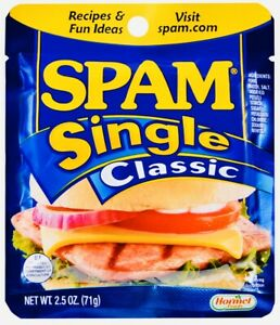 SPAM Single Classic Individual Packets, 10 PACK, EXPIRES 01FEB22, USPS PRIORITY.