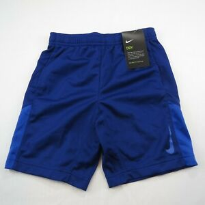 NIKE DRI FIT BOYS ATHLETIC SHORTS NAVY BLUE SIZE 7 L NEW WITH TAG $8.00