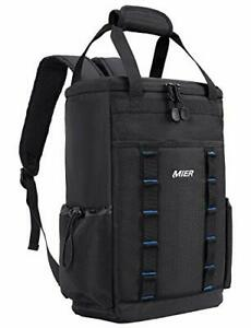 MIER Leakproof Insulated Backpack Soft Cooler Lunch Bag for Men and Women to Pic