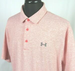Men's Under Armour Heat Gear Short Sleeved Poly Elastane Polo Golf Shirt XXL $14.55