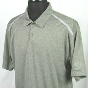 Men's Nike Golf Dri Fit Tour Performance 100% Polyester Gray Polo Shirt XL $5.00