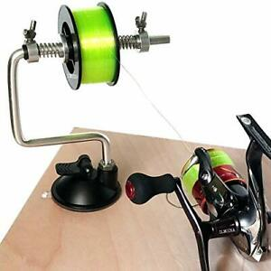 SLMOZKA Fishing Line Spooler Silver Reel Winder Spool Tackle Winder spooling Sta