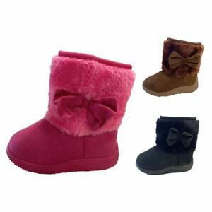 Infant Classic Baby Boots Soft Faux Fur Toddler Girl Round Toe Zippier Shoe Size $10.99