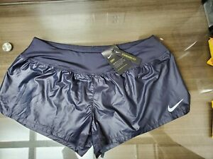 Nike Crew Luxe Women's Dry Standard Fit Running Shorts Sz XL Gridiron Blue NWT $22.50