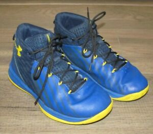 Under Armour UA Boys Basketball Shoes Blue Gold Youth Size 1Y 1 Y 3020431 400 $9.99