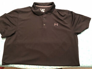 Under Armour Heatgear Mens Polo Golf Shirt XXL Black $19.99