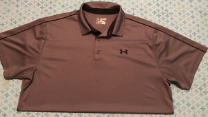 Under Armour Heatgear Mens Polo Golf Shirt XXL Gray $14.99