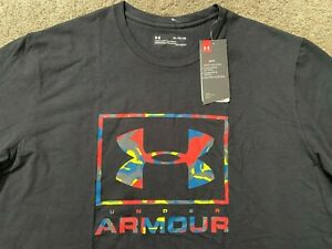 New! Under Armour Heatgear Camo Big Logo Graphic T Shirt XL Nice! $11.50