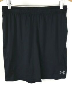 Under Armour Black Heat Gear Athletic Shorts Fitted Size Large $5.50