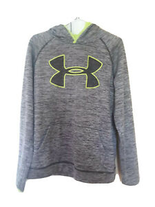 Boys Youth XL Gray Under Armour Hoodie Loose Fit $14.00
