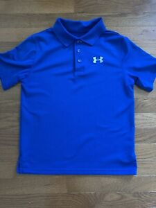 Under Armour boys shirt size Y L youth large athletic MINT cond golf loose fit $12.00