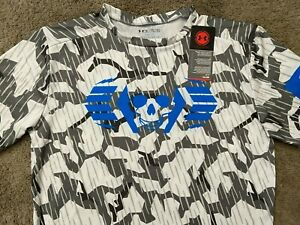Under Armour UA Heatgear Compression Skull Camo T Shirt Men's 2XL XXL $10.00
