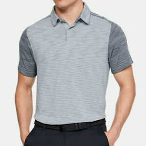 Under Armour Men's Tour Tips Seamless Golf Polo Shirt Moonstone Blue Large NEW $29.99