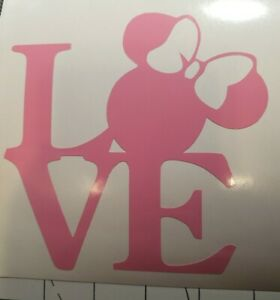 Pink LOVE Minnie Mouse Decal 5quot;×5quot;