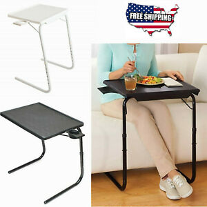 Portable Foldable Table With Cup Holder Adjustable Coffee Tray Lazy Laptop Bed