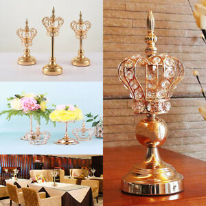 Gold Crystal Candle Holders Candlesticks Wedding Candle Stand Gifts Home Decor