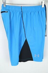 "Under Armour Men HeatGear Flyweight 7"" Training Run Shorts Fitted sz Medium Blue $1.25"