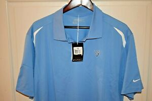 NWT NIKE GOLF DRI FIT Men's S S Polyester Polo Shirt Power Blue Size 2XL $8.99