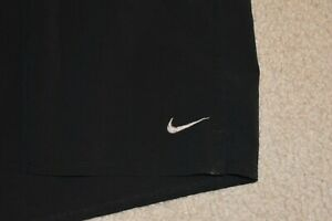 NIKE DRI FIT Men's Brief Lined Poly Spandex Running Shorts Black Size Medium $8.99