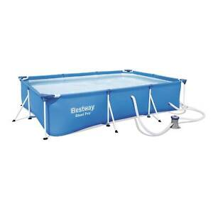 Bestway Steel Pro 9.8ft x 5.6ft x 26in Above Ground Swimming Pool Set with Pump