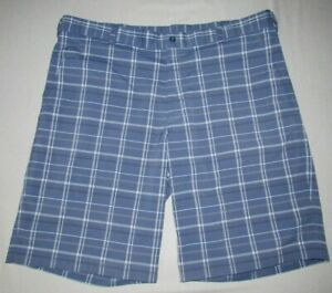 Men's Nike Golf Dri Fit Blue Checkered Polyester Stretch Cargo Shorts sz. 38 $24.99