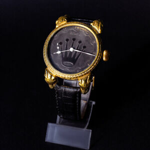 Noble Design GoldPlated Case Mens Wristwatch based on Vintage Movement