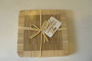 NEW TAG SMALL SQUARE BAMBOO CUTTING BOARD KITCHEN COOKING FOOD