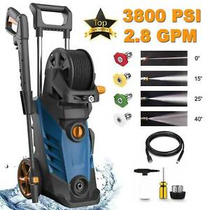 3800PSI 2.8GPM High Power Electric Pressure Washer Cold Water Cleaner Machine $99.99