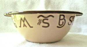 VINTAGE MARBLE CANYON 4 SOUP/CEREAL BOWLS  WESTERN COWBOY BRANDING IRON DESIGN