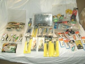 Lot of Fishing Lures Rigs Jigs Dredge Lead Heads Bass Pro Braid Runner Bagley