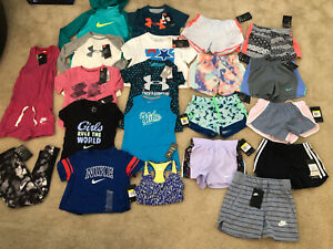 Lot Of Girls Nike Under Armour Summer Clothes size Small $275.00