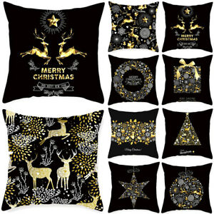 Christmas Thanksgiving Elk Square Cushion Cover Home Sofa Bed Pillow Case Decor