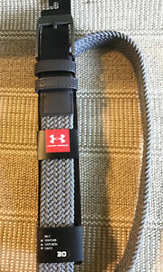 Under Armour Men's Braided Golf Belt Gray Grey Size 30 Small New NWT Youth $26.00
