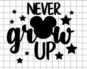 Never Grow Up Mickey Mouse Decal