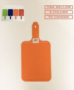 """1 PC 8"""" X 6"""" PLASTIC CUTTING BOARD WITH 4"""" HANDLE"""