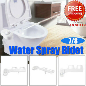 Cold Toilet Seat Attachment Fresh Water Spray Non Electric Mechanical Bidet US