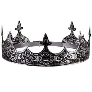 Silver King#x27;s Crown For Theater Prom Party Decorations Royal Crown Men Costume $19.79