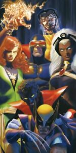 ALEX ROSS rare X-MEN lithograph SIGNED COA SDCC 2020 Exclusive COCKRUM homage $375.00