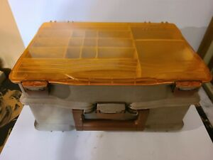 Vintage Tackle Logic Fishing Tackle Box with Rapala lure and More NorMark Knife