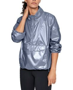 Under Armour Women's Storm Metallic Pullover Jacket, Blue Heights NWT LARGE $0.99