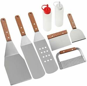 ROMANTICIST 8Pc Professional Griddle Accessories Kit Heavy Duty Stainless Stee