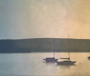 Russell Chatham Original Signed Still Evening at Tomales Bay Lithograph Boat Art $159.99