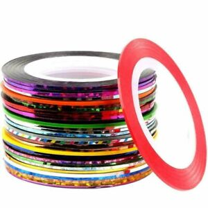 30 Rolls Mixed Color Striping Tape Line DIY Nail Art Tips Decoration Sticker $3.95