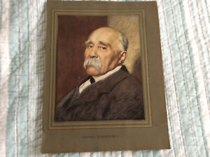 L'illustration Original Georges Clemenceau Lithograph 1929 Framable Color Plate  $20.00