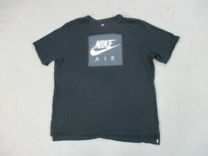 Nike Shirt Adult 2XL XXL Black White Spell Out Swoosh Athletic Air Mens * $15.10