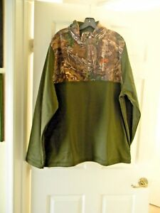 Under Armour Caliber XXL 1 4 Zip Cold Gear Long Slv Green Realtree Jacket Sweat $40.99