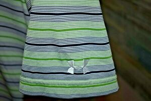 UNDER ARMOUR Men's S S Poly Spandex Golf Polo Shirt Green Multi Striped Size MD $3.99