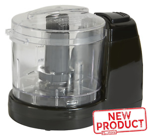1.5 Cup Mini Food Chopper One Touch Pulse Stainless Steel Blade Kitchen Black