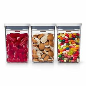 NEW OXO 11236300 Good Grips 3 Piece POP Container Value Set